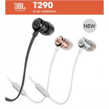 JBL T290 Pure Base Sound In-Ear Wired Stereo Headphones With Microphone (Rose Gold)