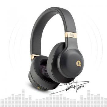 JBL E55BT Quincy Edition Wireless Over-Ear Headphones with Quincy's Signature Sound (Black)