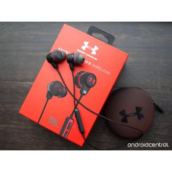JBL Under Armour Sport Wireless Bluetooth In Ear Headphones For Athletes Gym (Black/Blue)