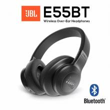 JBL E55BT Wireless Over-ear Headphones (Black/Blue)