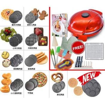 ( 10 Plates ) New Multi-functions Waffle Maker Adjustable Temperature Machine