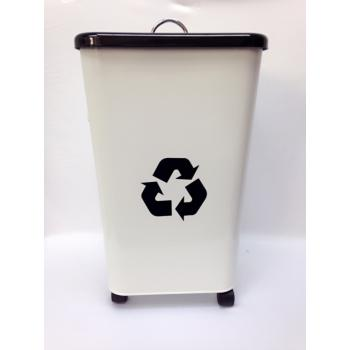 IMAXX - Recycle Metal Dustbin With Wheel 26L ( RMDW26L )