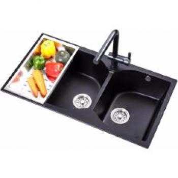 ## [G8848] LEVANZO GRANITE DOUBLE SINK