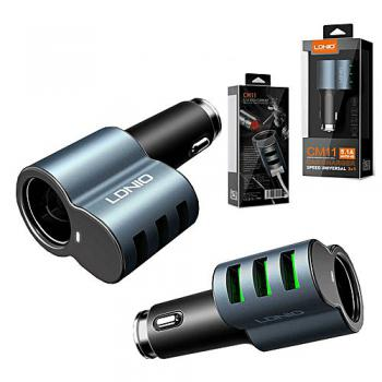 CM11 LDNIO 3+1 UNIVERSAL CAR CHARGER