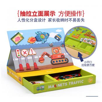 MiDeer Magnetic Board Education Puzzle - Traffic