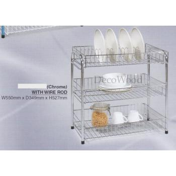 3 Layers Chrome Kitchen Rack - EM6201