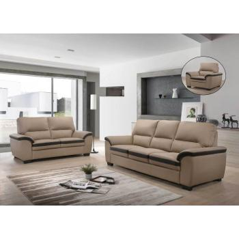 Bella Raine 1+2+3 Seater Leather Sofa Relax TV Chair JJ8278 - BROWN