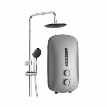 Midea Rain Shower Water Heater with DC Silent Pump MWH-38P3-RS (Black)