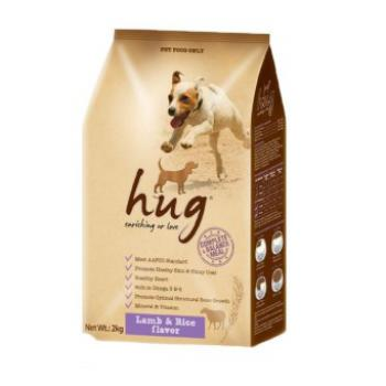 Hug Lamb & Rice Dog Food 2KG x 6 packs