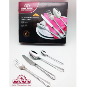 JAYA MATA 24 pieces Stainless Steel Kitchen Cutlery Set (JM784)