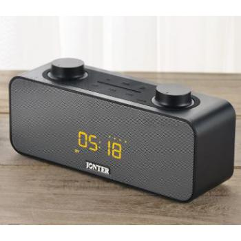Jonter M39 Portable Bluetooth Speaker (FM Radio, Clock, Alarm)